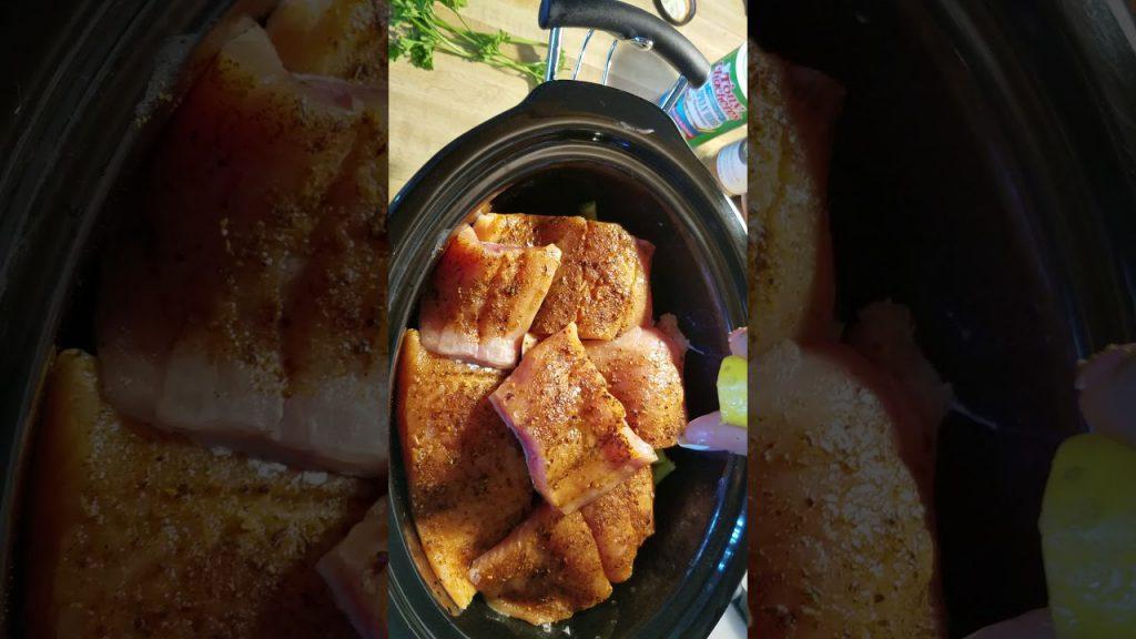 Crock Pot Salmon, Potatoes & Veggies