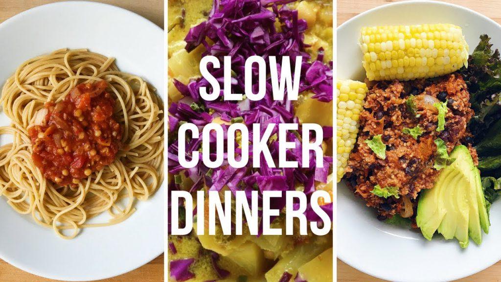 SLOW COOKER DINNER RECIPES (Vegan)