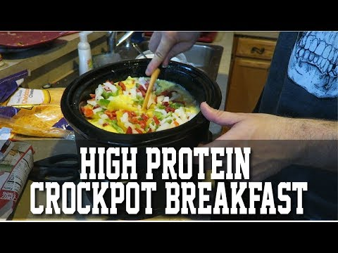 High Protein Crock Pot Breakfast