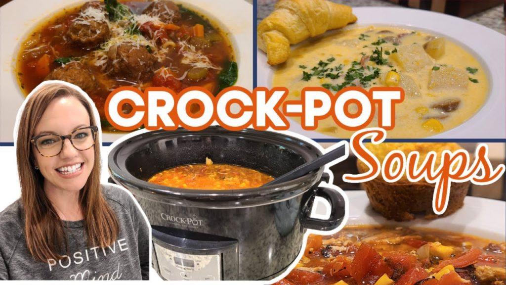 CROCKPOT DINNERS | WHAT'S FOR DINNER? | CROCKPOT SOUPS | CROCKTOBER